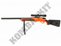 ZM51 Airsoft Sniper Rifle BB Gun Black and Orange